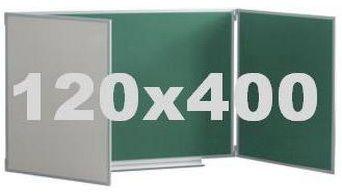 Школьная комбинированная доска мела/маркер 120х400 см