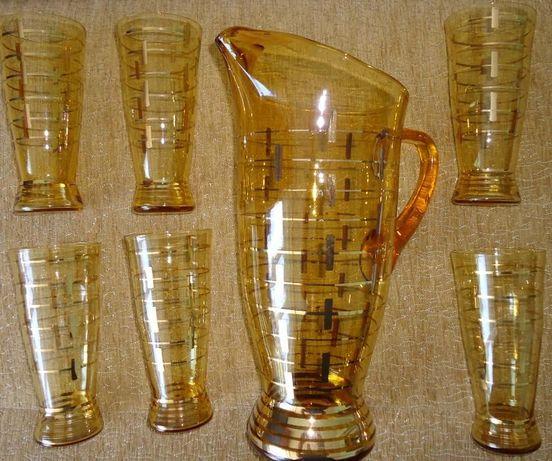 Dzban + szklaneczki na napoje