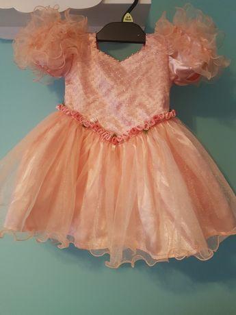 Piękna sukienka 80 86 na roczek wesele