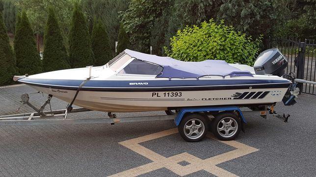 Motorówka Fletcher   łódź motorowa  yamacha 115