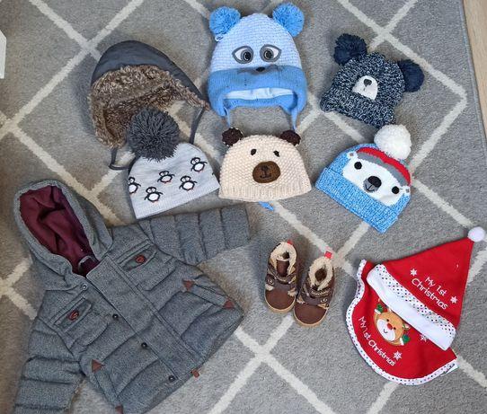 Zestaw zimowy zimowo-jesienne wiosenny czapka kurtka kombinezon buty