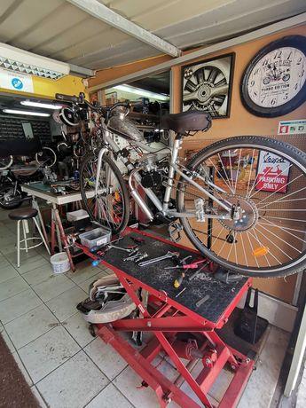 Reparação de motores e manutenção de Bicicletas a motor