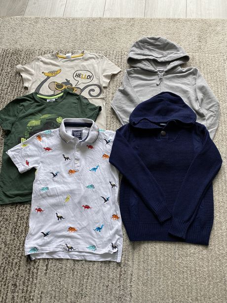 Zestaw koszulki sweter i bluza 134