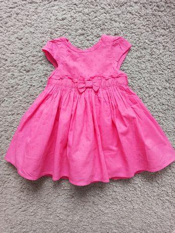 Śliczna różowa sukienka rozm.74