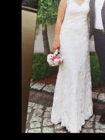 Suknia ślubna Elizabeth Passion .Cała w oryginalnej koronce.