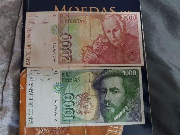 Nota de 2000 PTS +NOTA DE 1000 PTS.