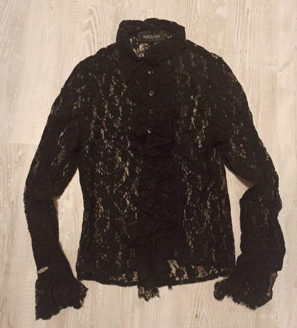 NICOWA Elegancka Koronkowa Bluzka S/M