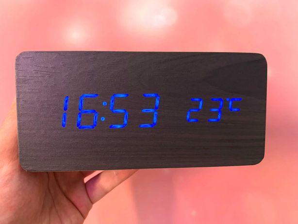 Шикарные часы с термометром