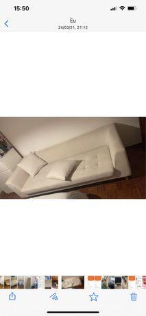 Sofa creme 3 lugares
