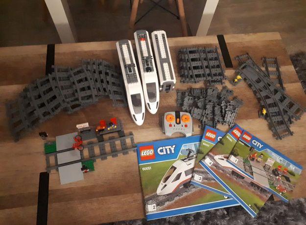 Duży zestaw LEGO pociąg 60051 + masa torów