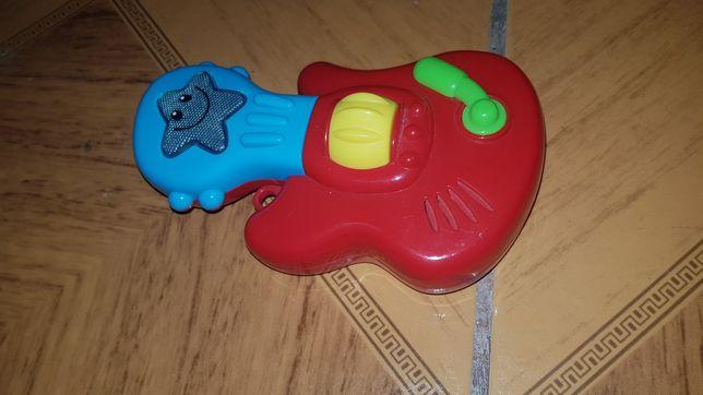 Gitara grając z mrugajacym światłem zabawka dla dziecka