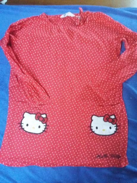 Sukieneczka H&M,hello kitty ,koszula dżinsowa rozmiar 104