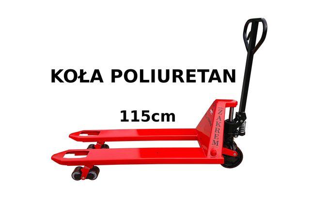 Wózek paletowy paleciak widlak ZAKREM WRU4-2300 PTP Poliuretan 115cm
