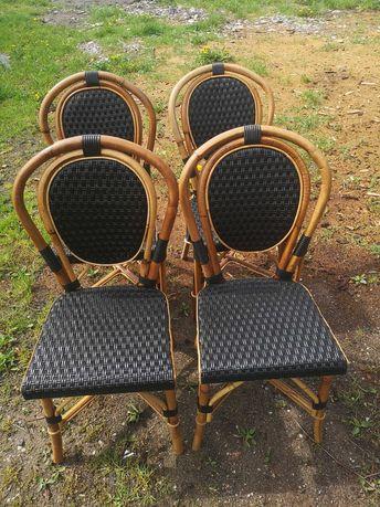 Krzesła bambusowe 4 sztuki