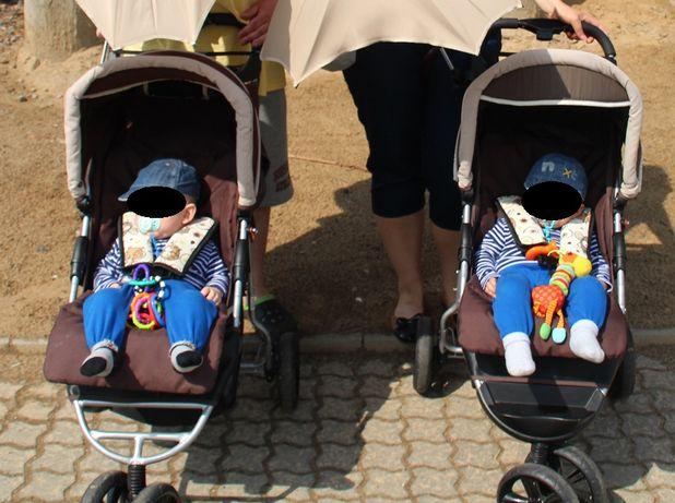 2szt wózek spacerówka AVANTI mały PRZEBIEG bliźniaki bliźniąt