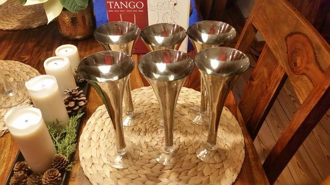 Kieliszki do szampana patynowane