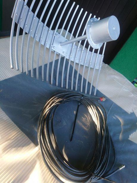 Aluminiowa Antena darmowe WiFi + kabel 20 metrów zasięg 20km tir