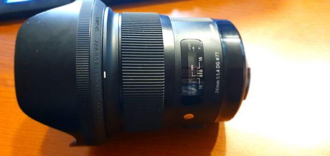 Sigma Art 24 mm F1.4 idealny SUPEROSTRY  mocowanie Canon