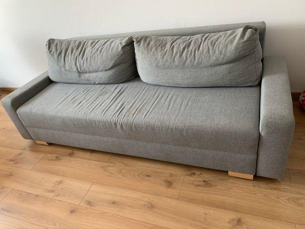 Sofa/Kanapa rozkładana, 3 osobowa z Ikea GRÄLVIKEN, szara