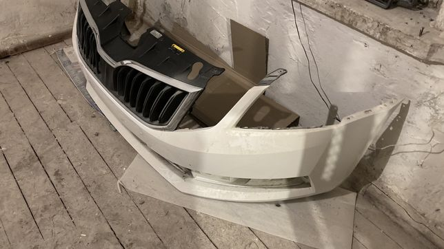 Бампер октавия а7 FL рестайлинг оригинал диски