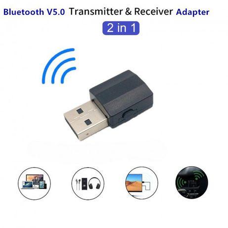 Адаптер 2 в 1 Bluetooth 5,0 приймач,передавач