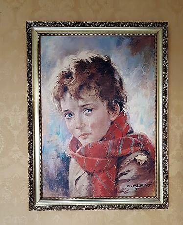 """Piękny obraz """"Płaczące Dziecko""""-reprodukcja"""