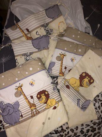Бортики на кроватку, детское одеяло, постельный набор для ребенка
