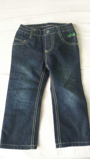 Spodnie jeans nowe ciepłe 92