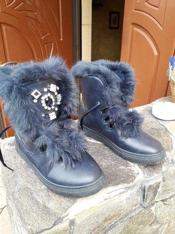 Ботиночки   декоровані хутром з крілика