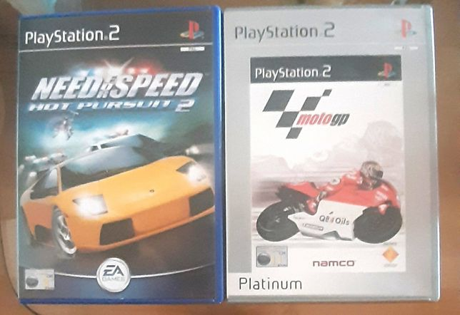 Moto GP e Need For Speed- Hot Pursuit 2 ( PS2)