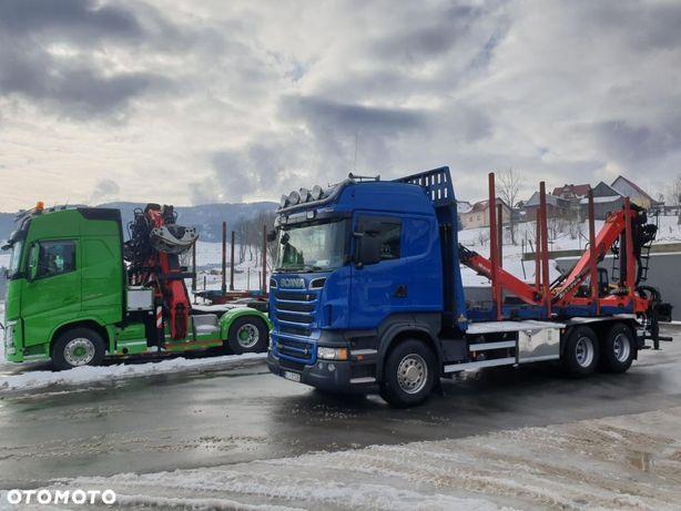 Scania R500 v8 6x4 do drewna kłody lasu epsilon  loglift  doll huttner