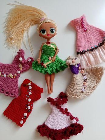 Zestaw Sukienki ubranka dla lalek Barbie lub Lol omg