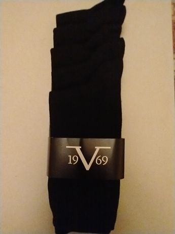 Zestaw czarnych skarpet Versace 42-44