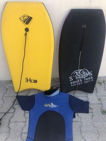 2 Pranchas e Fato de Surf Shorty