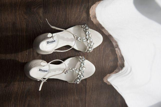 Buty ślubne Dune London r. 40 cyrkonie błyszczące