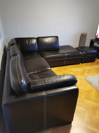 Sofa, kanapa narożna ze skóry