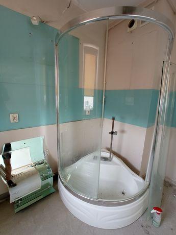 Kabina prysznicowa GEMY 90x90 szkło hartowane + lusterko+ uchwyt