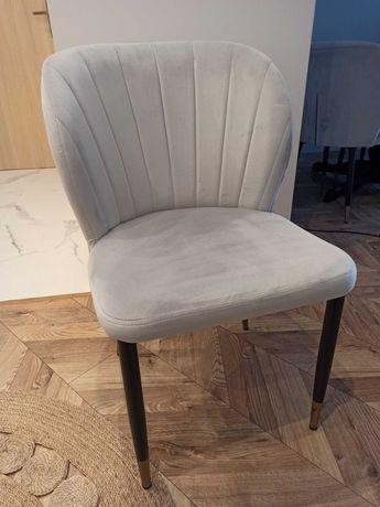 Krzesła szare, miękkie  salon/jadalnia  4 sztuki