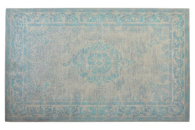 Tapete Carpete Oriental Exclusiva Azul Cinza - 160X240cm By Arcoazul