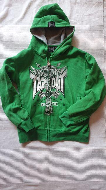 Bluza TAPOUT 9 - 10 LAT 146 cm firmowa kaptur zamek zielona