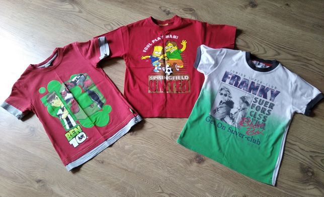 Ben 10 ,Simpsons  Batman i in.koszulki letnie r.8