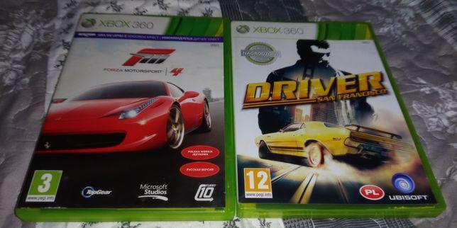 Gry xbox 360 - wyścigowe wyścigówki - Driver i Forza Motosport4