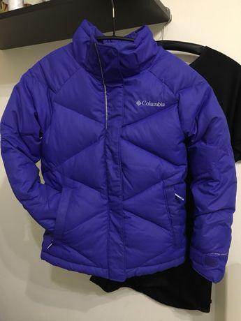 Пуховик Columbia mini Lay D omni heat S 7-8 лыжная куртка