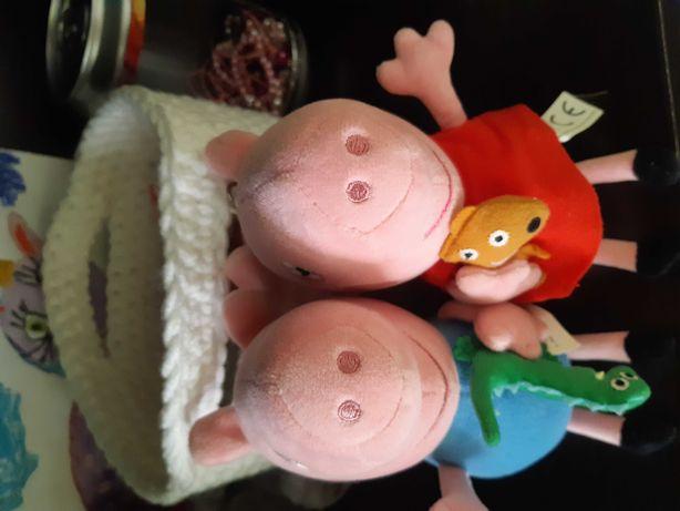 Мягкие игрушки Свинка Пеппа и Джордж(на карабинах)