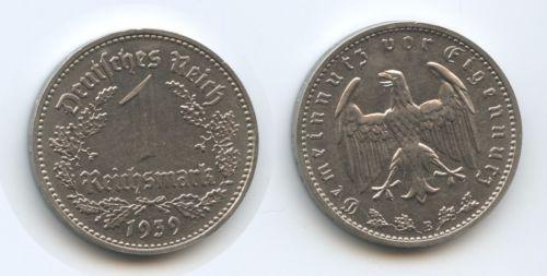 1 Reichsmark 1939 B
