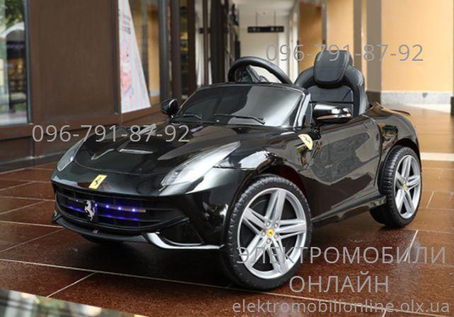 Детский электромобиль Ferrari (M 3176) EVA, Кожа дитячий електромобіль