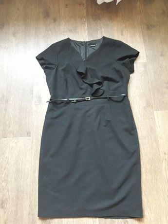 Женское черное платье-футляр, р.50