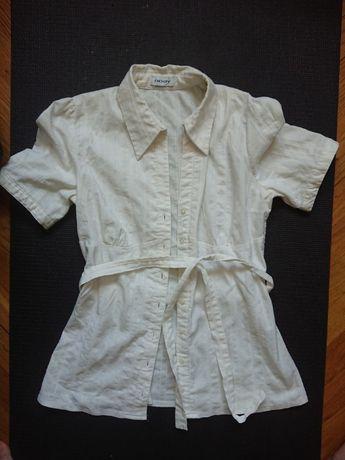 Koszula damska z krótkim rękawem, biała