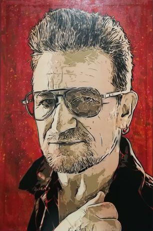 Bono Vox pintura original em tela