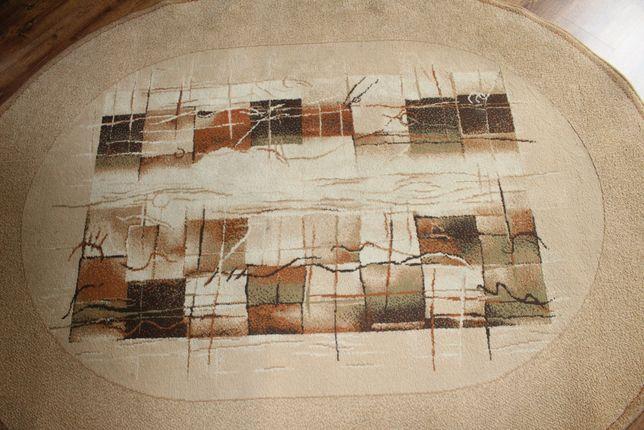 dywan owal brązowy